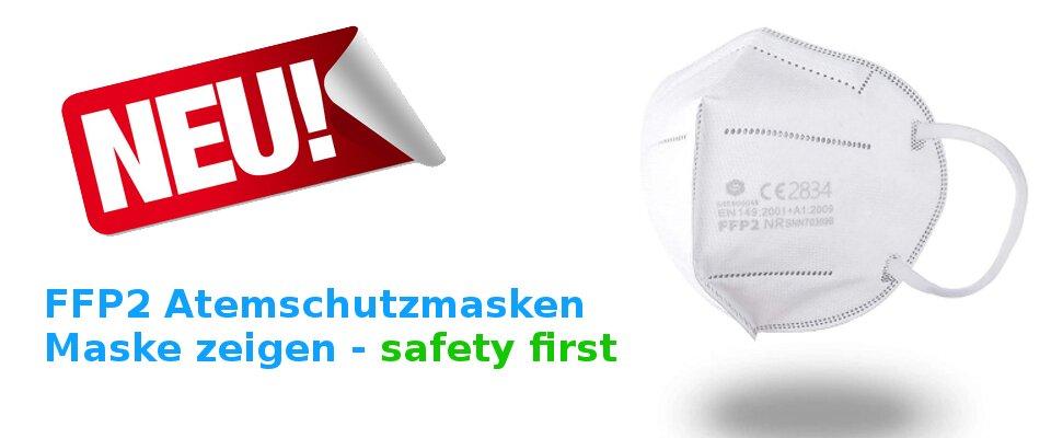 FFP2 Atemschutzmasken sicher und preiswert online bestellen.
