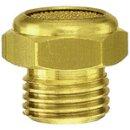 Sinterbronce-Schalldämpfer, flach, G 1/2 a., SW 24