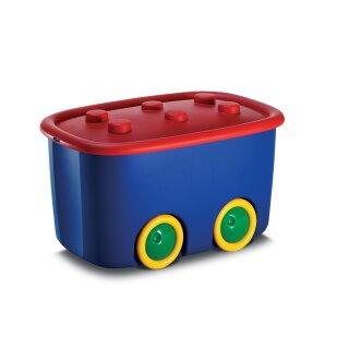 Funny Box - 580x385x320mm - 46 Liter - blau/rot