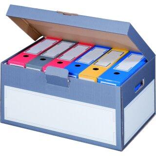 Klappdeckelcontainer, 522x333x268mm, anthr. 5er