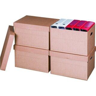 Archivbox mit Deckel, 413x330x266mm, 10er