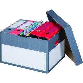 Archivbox mit Deckel, 414x331mm, anthrazit, 10er