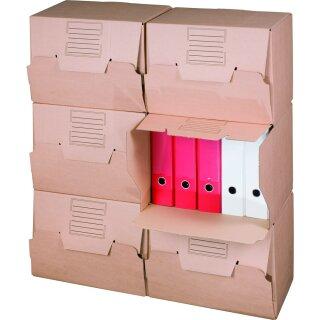 Archivbox, 426x326x295mm, 10er, mit großem Beschriftungsfeld