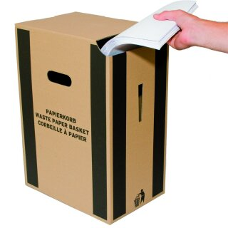 Papierkorb braun, 335x228x440mm, 5 Stück in Folie (Volumen ca. 35 l)